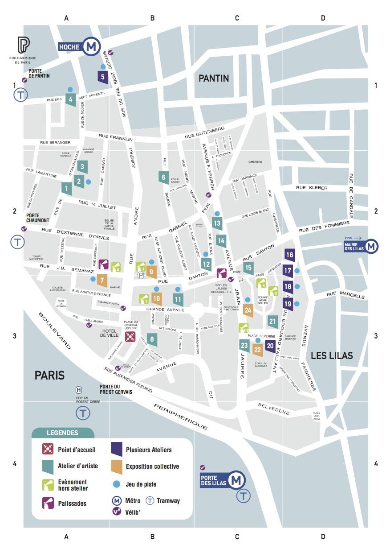 Plan du Pré Saint Gervais